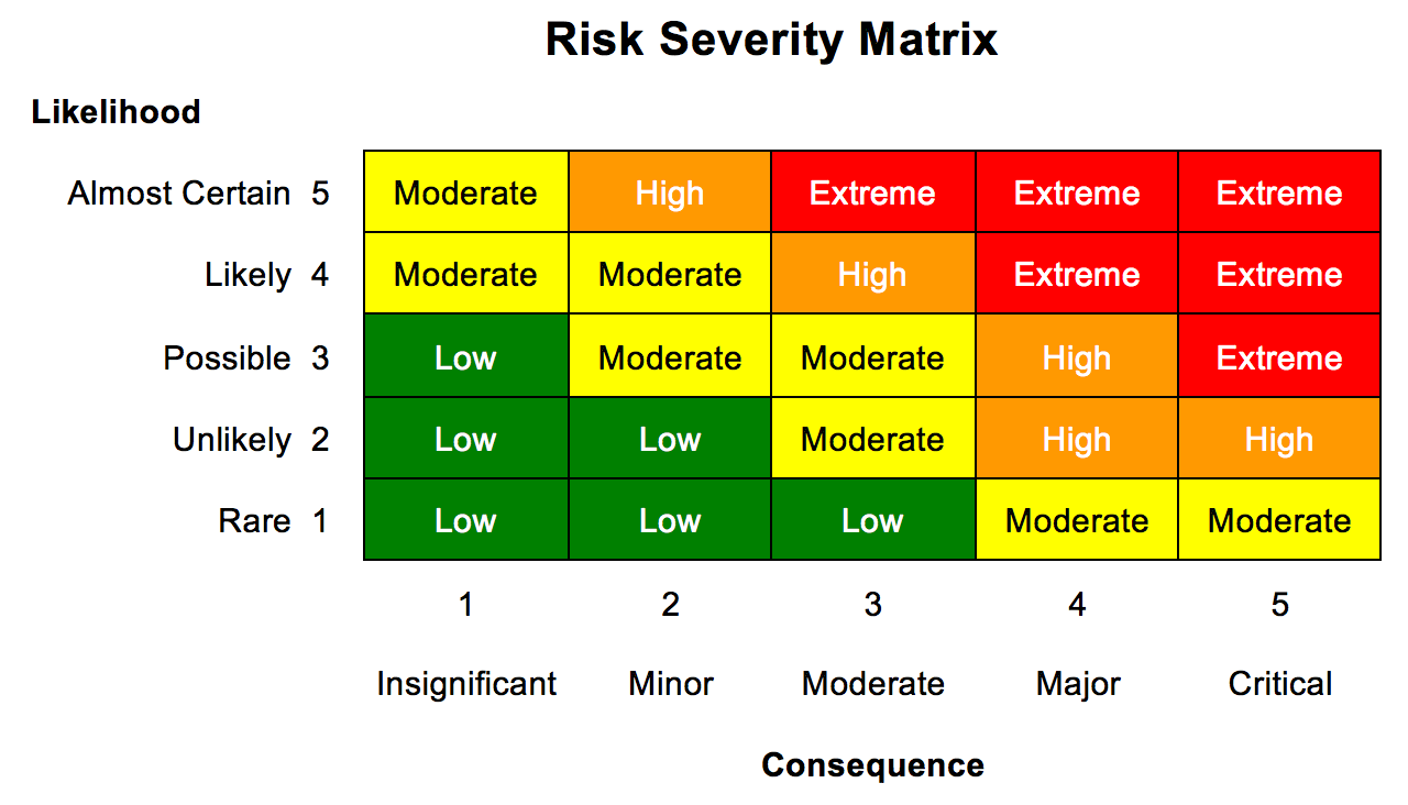 Figure 1 - Risk Matrix