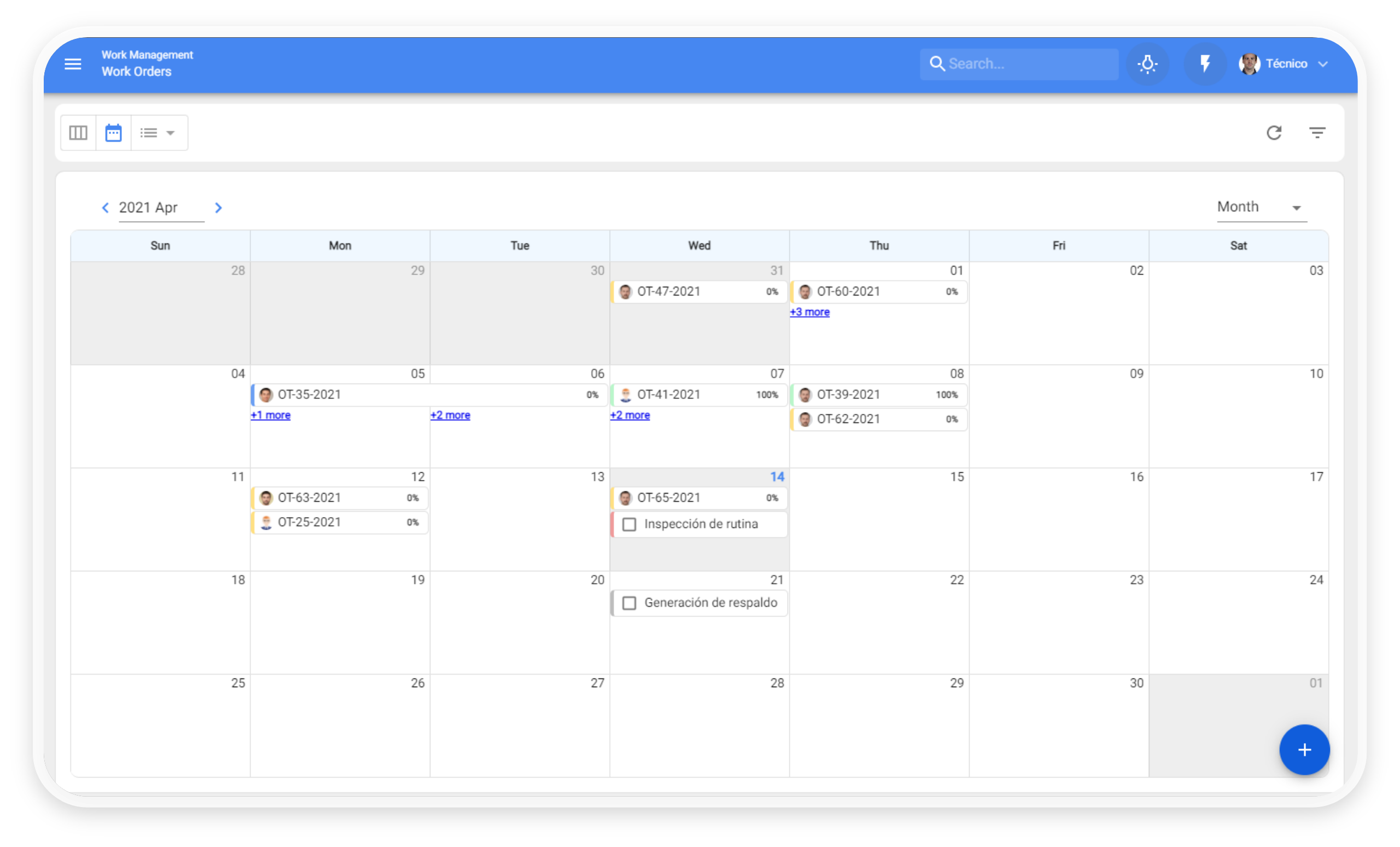 New Timeline view
